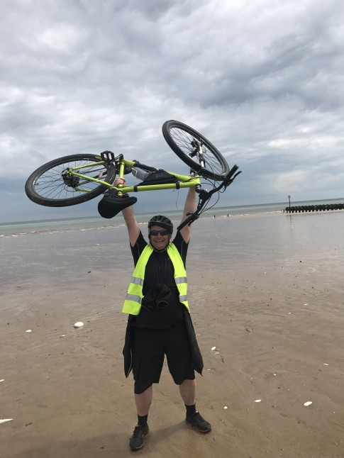 Alan Noake completed the ride Tues May 30th 2017 and raised £1406 for school project in Ghana